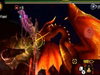 怪物猎人4G红黑龙G级讨伐视频 单人龙属弓