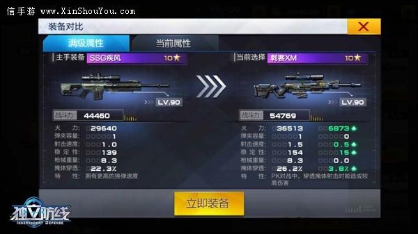 独立防线刺客XM怎么样?狙击枪刺客满级属性